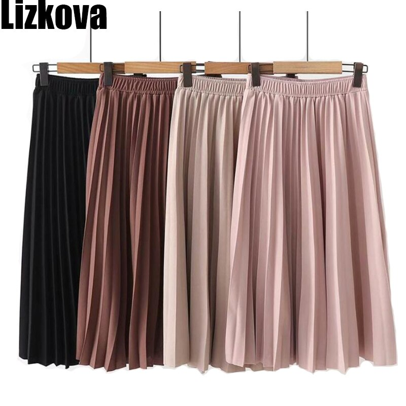 2020-Spring-Summer-Women-High-Waist-Skirt-Solid-Color-Pleated-Skirt-Women-Causal-Midi-Skirts.jpg